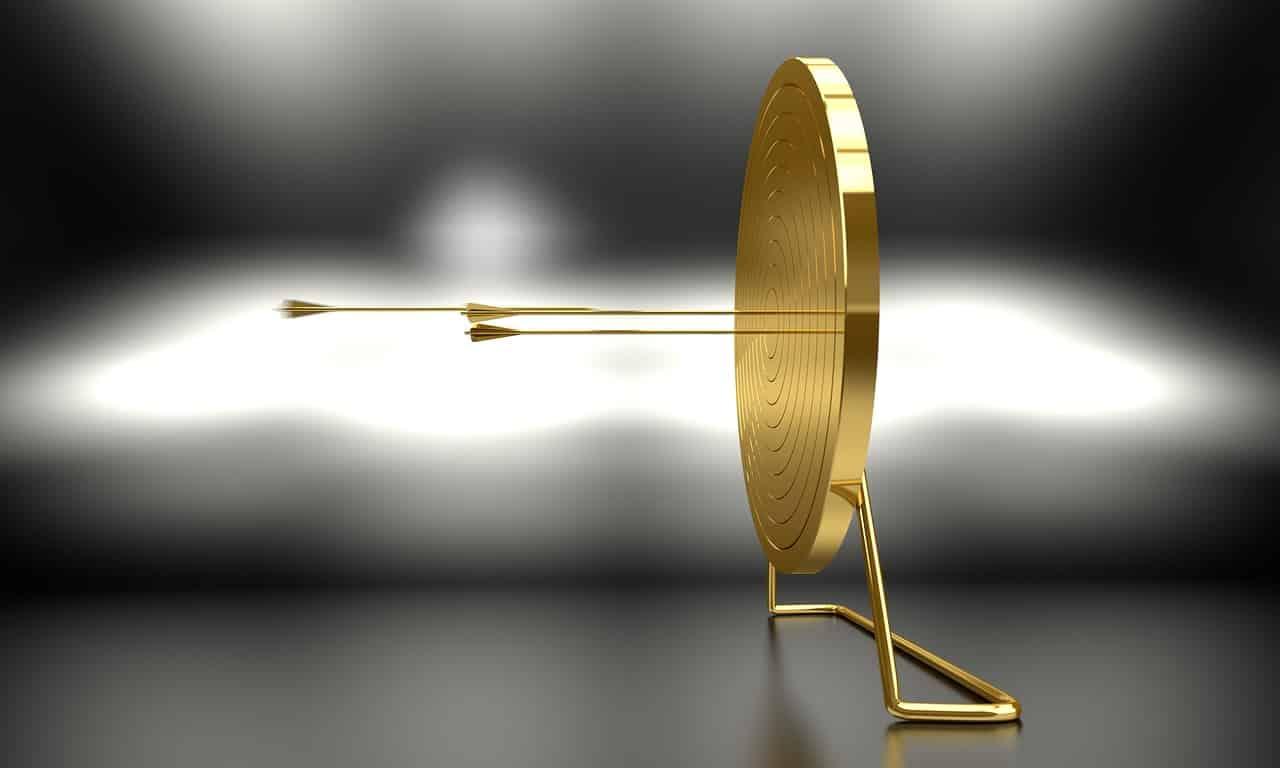 Een gouden target om een doelgroep uit te beelden